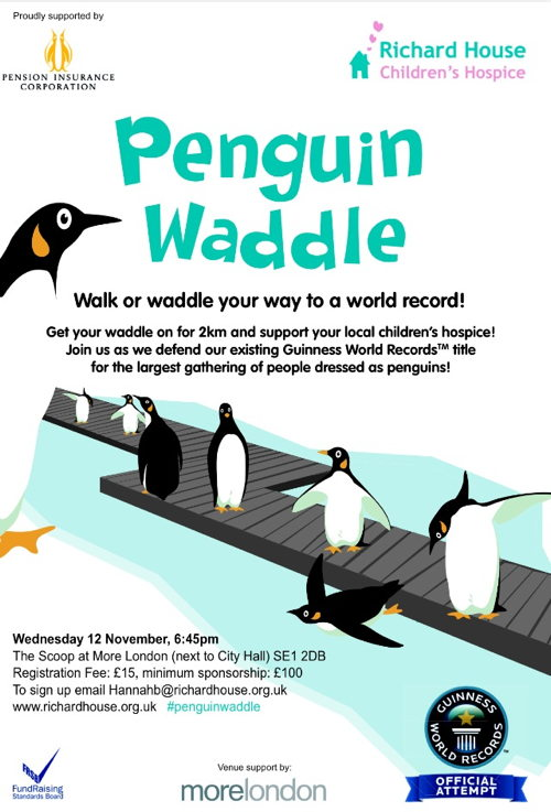 Penguin Waddle at The Scoop at More London