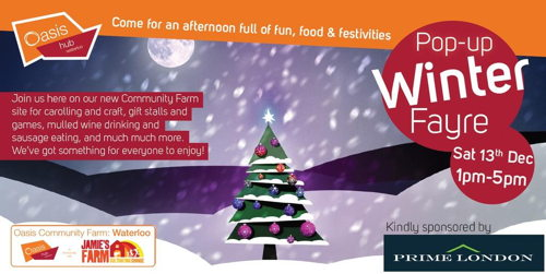 Pop-up Winter Fayre at Oasis Farm Waterloo