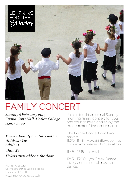 Family Concert at Morley College