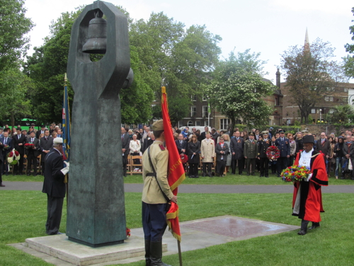 Victory Day Act of Remembrance at Geraldine Mary Harmsworth Park