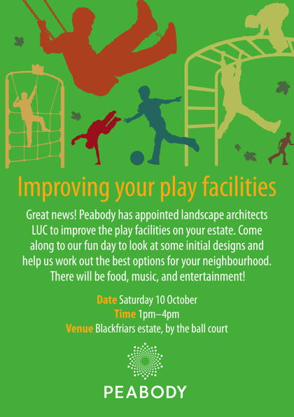 Play Facilities Consultation at Peabody Blackfriars Road Estate