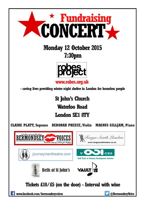 Fundraising Concert at St John's Waterloo