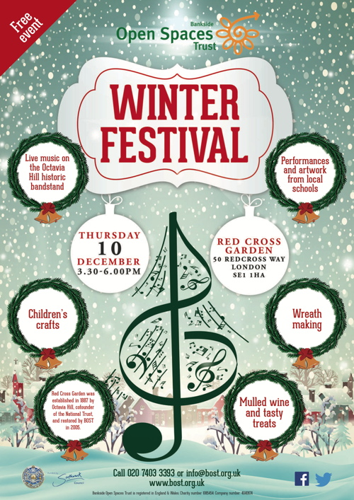 Winter Festival at Red Cross Garden