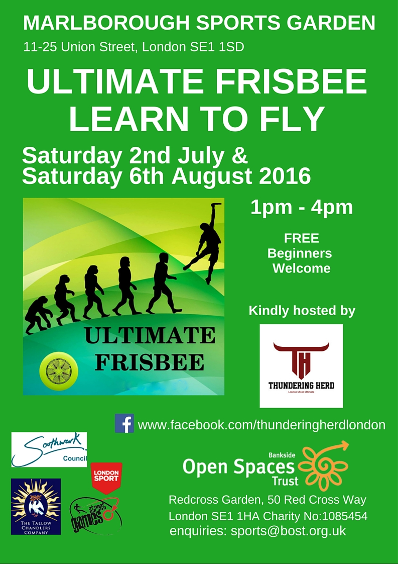 Ultimate Frisbee at Marlborough Sports Garden