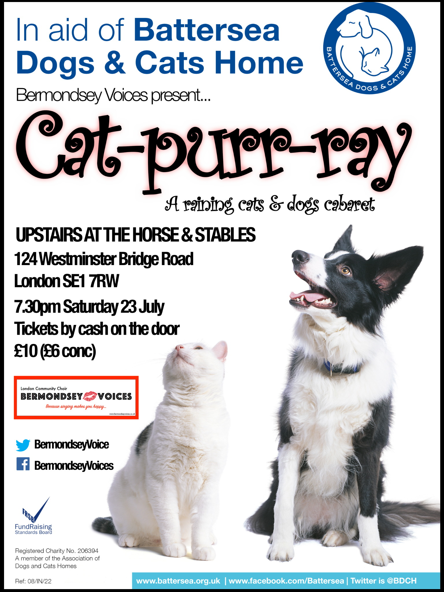 Bermondsey Voices present... Cat-purr-ray at The Horse & Stables