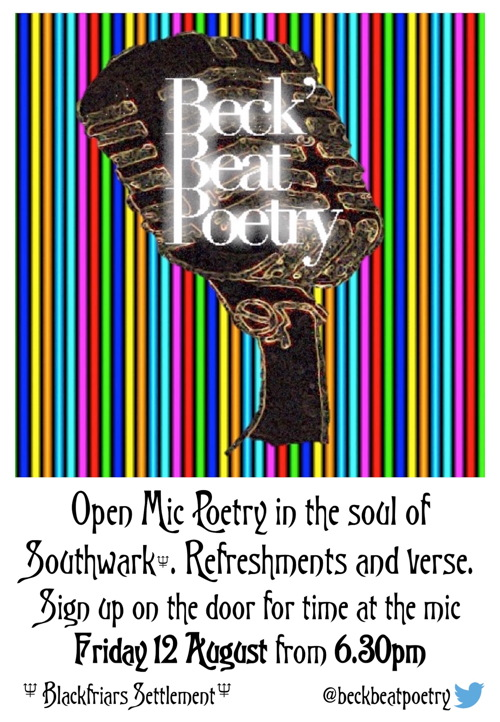 Open Mic Poetry Evening at Blackfriars Settlement