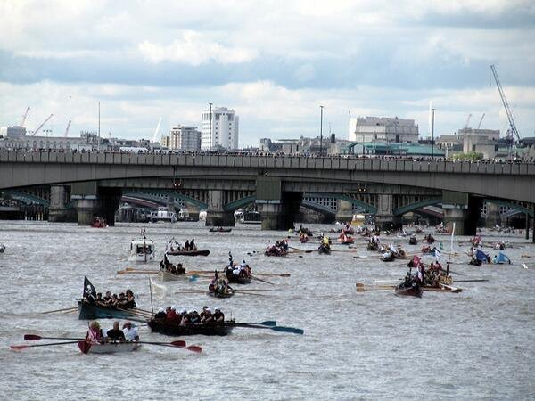 The Great River Race at River Thames