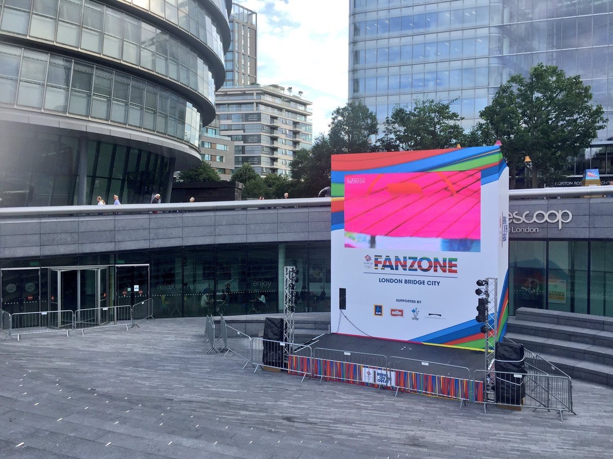 Official Team GB FanZone for the 2016 Rio Olympics at The Scoop at More London