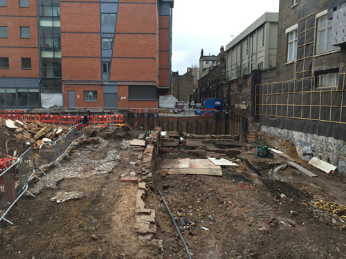 Excavations at 127-143 Borough High Street at New Cut Housing Co-Operative Hall