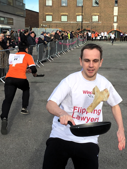 Better Bankside Pancake Day Race at