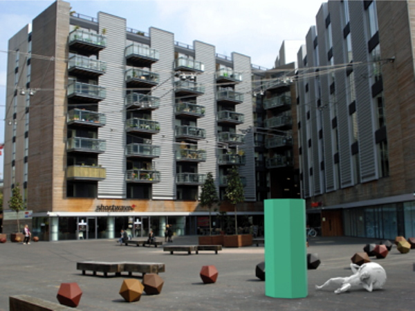 Unveiling of Pylon and Pier sculpture at Bermondsey Square