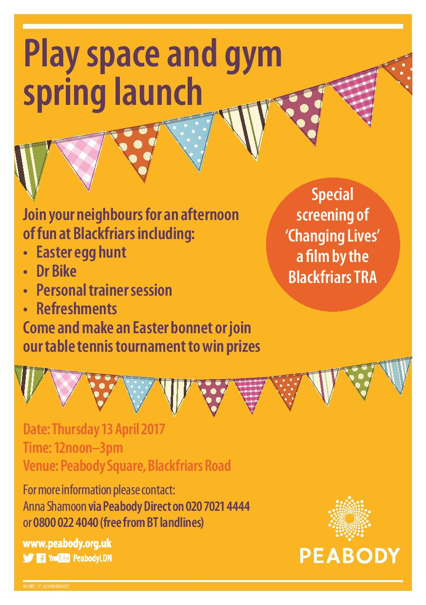 Play space and gym spring launch at Peabody Blackfriars Road Estate