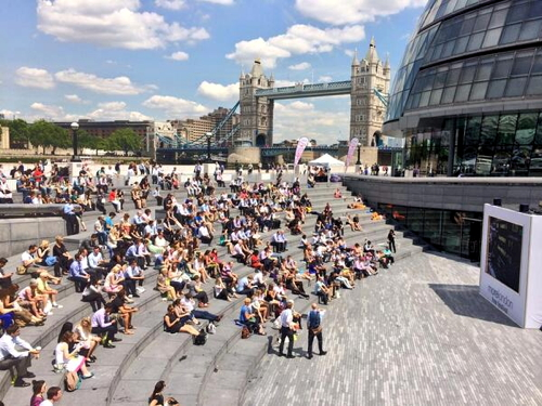 Johnny English at The Scoop at More London