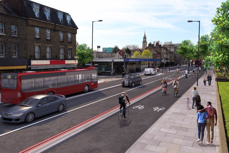 Cycle Superhighway 4 Public Exhibition at