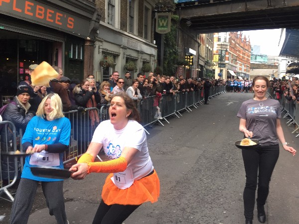 Pancake Day Race at Borough Market