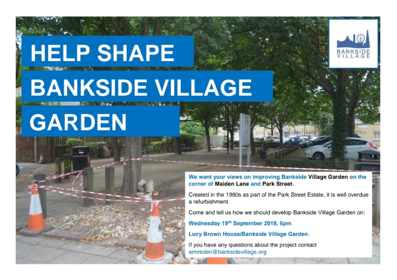 Bankside Village Garden Consultation at Maiden Lane Square