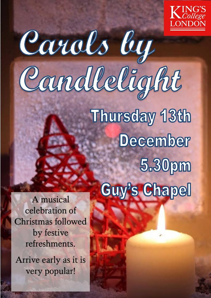 Carols by Candlelight at Guy's Chapel