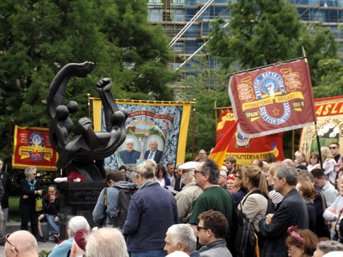 International Brigades Annual Commemoration at Jubilee Gardens