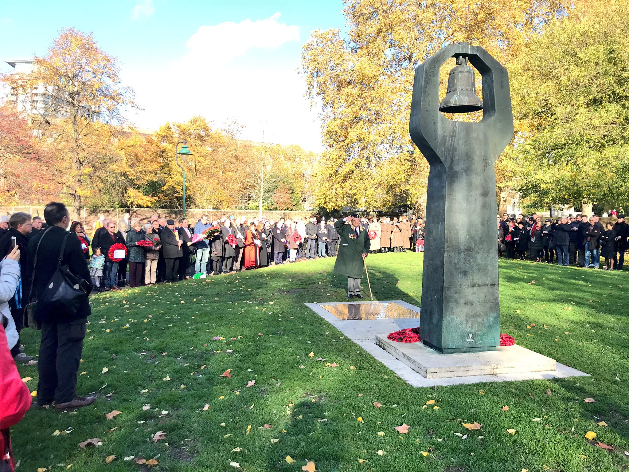Act of Remembrance at Geraldine Mary Harmsworth Park