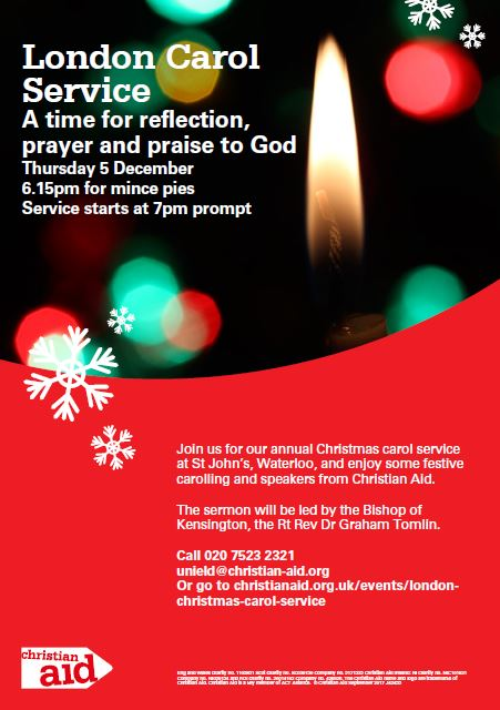 Christian Aid London Carol Service at St John's Waterloo